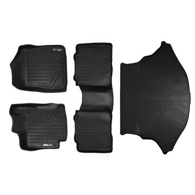 MAXFLOORMAT Floor Mats (2 Rows) and MAXTRAY Cargo Liner Set Black for 2009-2011
