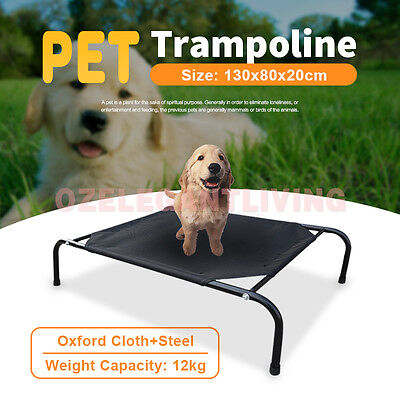 New Pet Bed Trampoline Dog Cat Puppy Hammock Canvas Extra Large 130x80x20cm