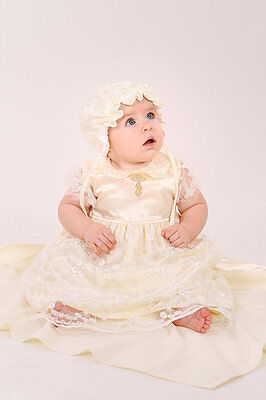 Newborn Christening Set Baby Girl Clothes Infant Baptism Dress Baby Girl Outfit