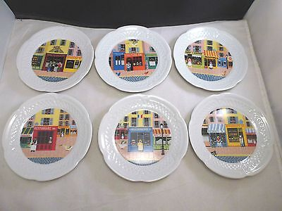 6  Cheese Plates Louis Lourioux-Limoges Canape Plates-France STORE FRONTS