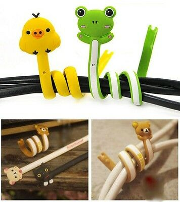 Animal Long Wrap Winder Organizer Headphone Earphone Cord Wire Cable Holder WFAU