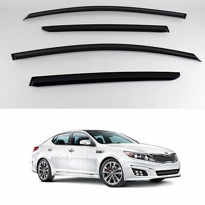 SMOKED DOOR SIDE WINDOW SUN VISOR VENT GUARDS RAIN for KIA Optioma 2011-2015