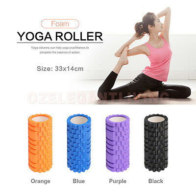 New Yoga Foam Roller Grid EVA Physio Pilates Gym Exercise Trigger Point 33x14cm