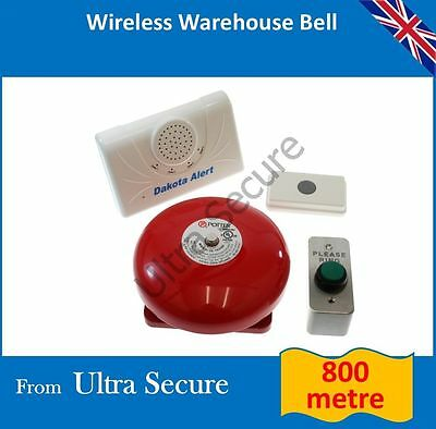 Warehouse Wireless Entry Bell (Long Range) inc H/D Please Ring Push Button