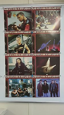 U2 Rattle and Hum 1988 Lobby Card Front Of House Cards Full Set of 8 Very Rare