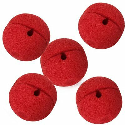 5 x Red Foam Clown Nose Costume Party Fancy Dress Cosplay BF