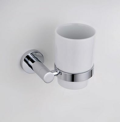 Rowton Tumbler and Holder Solid Brass Toothbrush Holder