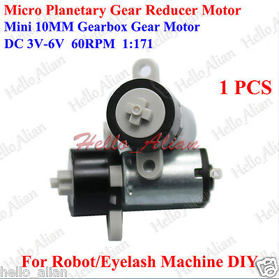 DC 3V 5V 6V 60RPM 10mm Micro Mini Planetary Gearbox Gear Motor DIY Robot Car