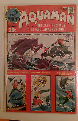 Super DC Giant #26 REPRINTS SHOWCASE #40 AQUAMANS ORIGIN DC 1st Print F+