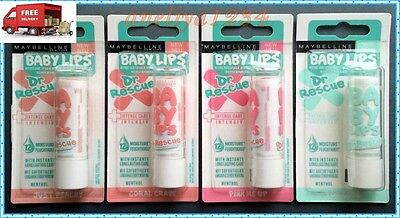 MAYBELLINE BABY LIPS DR RESCUE Lip Balm  12hr Hydration Menthol FREE DELIVERY