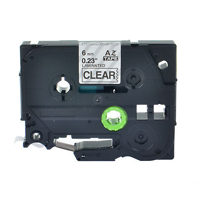 """Compatible For Brother P-Touch TZ TZe111 Black on Clear Label Tape 6mm 0.24"""""""