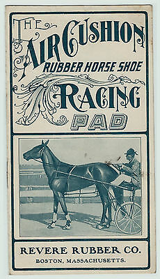 RARE - Advertising Brochure Booklet Air Cushion Rubber Horseshoe Racing Pad 1901