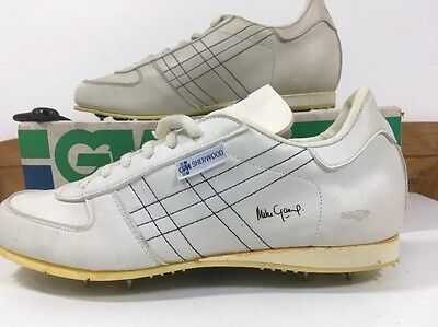 VINTAGE 1980s Gunn & Moore GM Sherwood Cricket Shoes Spikes Trainers Uk 8 Eu 42
