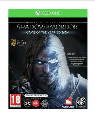 Middle-Earth Shadow of Mordor Game Of The Year (GOTY) Xbox One Game Brand New
