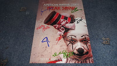 """American Horror Story : Freak Show Pp Signed 12""""x8"""" A4 Photo Poster Evan Peters"""