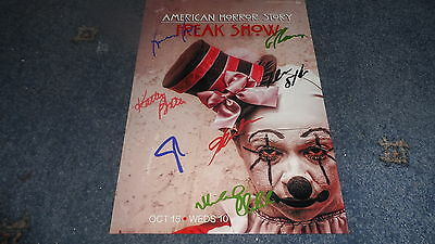 "American Horror Story : Freak Show Pp Signed 12""x8"" A4 Photo Poster Evan Peters"