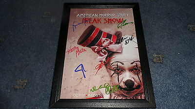 "American Horror Story : Freak Show Pp Signed Framed A4 12""x8"" Photo Poster"