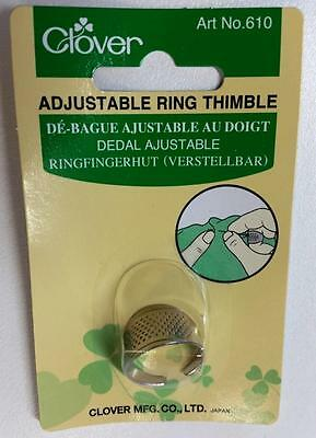 Clover Adjustable Brass Metal Ring Thimble
