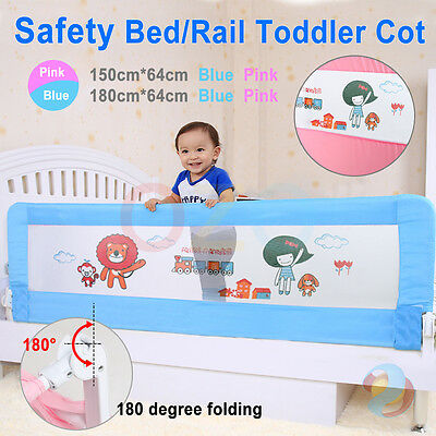 Child Toddler Bed Rail Baby Bedrail Fold Cot Guard Protection 150/180cm Safety