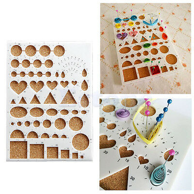 Paper Quilling Tool DIY Papercraft Work Board Template Slotted Scrapbooks Craft