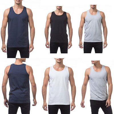08488b6af PRO CLUB HEAVYWEIGHT TANK TOP SLEEVELESS T SHIRT ProClub Men's Undershirt  M-5XL