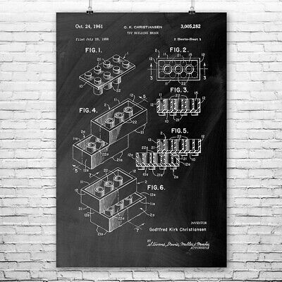 Toy Building Block Brick Poster Print Toy Store Wall Art Toy Room Decor