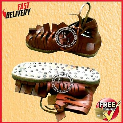 Greek Legionnaire Marching Sandals Roman Leather Sandal Medieval Gladiator Sca R