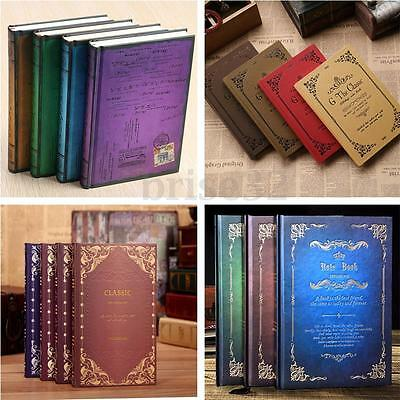 Various Classic Notebook Writer Blank Diary Book Travel Journal Paper Hard cover