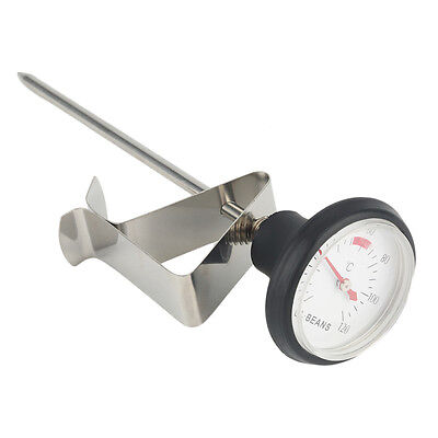 Stainless Steel Kitchen Espresso Coffee Milk Frothing Thermometer Craft W@