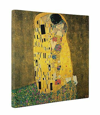 Gustav Klimt The Kiss Box Canvas Print Wall Art - Choice of Sizes