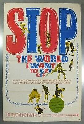 Stop The World I Want To Get Off -Anthony Newley- Original Usa 1Sht Movie Poster