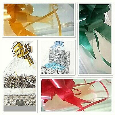 Hamper Cellophane Bag & Bow Quick & Easy To Assemble  Wrapping made Easy
