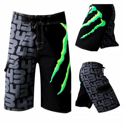 Mens Quick-Dry Board Shorts Swimming Beach Trunks Surf Pants Swimwear 30-38