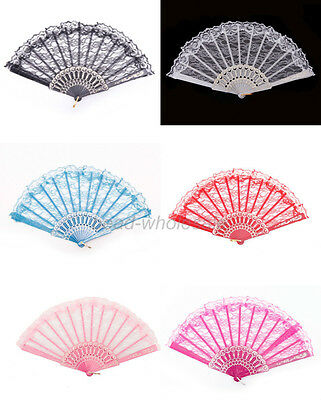 Fashion Chinese Wing Chun Style Dancing Fun Folding Lace Hand Fan Wholesale
