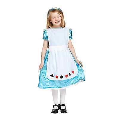 Alice in Wonderland Fancy Dress Up Costume Outfit Party Girls Traditional Book