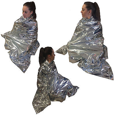 Steroplast Thermal Space First Aid Survival Silver Emergency Camp Foil Blanket