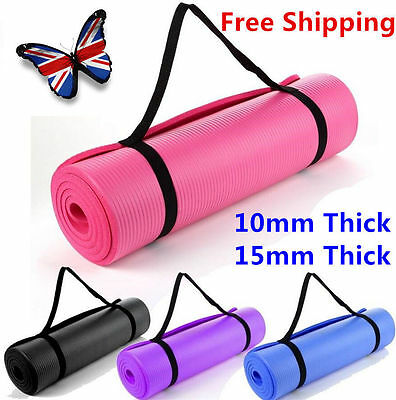 New Style Fitness Direct Yoga Mat PVC Thick Exercise Pilates Gym Physio Pilates