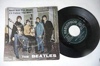 """THE BEATLES """"ROCK AND ROLL MUSIC-disco 45 giri PARLOPHON italy 1964"""" 12"""
