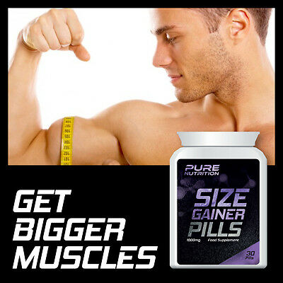 Pure Nutrition Size Gainer Pills – Weight Gainer Pill Get Bigger Muscles Bulking