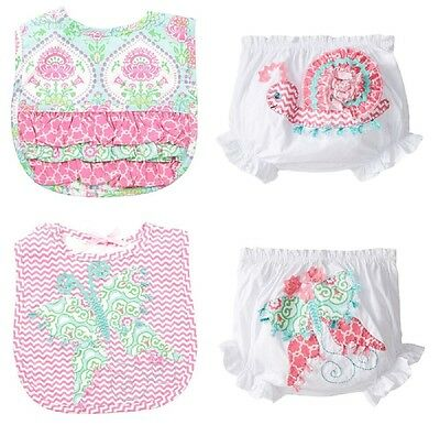 Mud Pie Spring Garden Bib and Bloomer Set, Snail or Butterfly- Shower Gift!