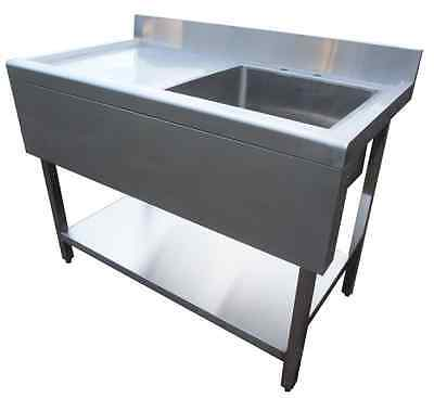 Sink Commercial Catering Kitchen Stainless Steel 1200mm Left Hand Drainer