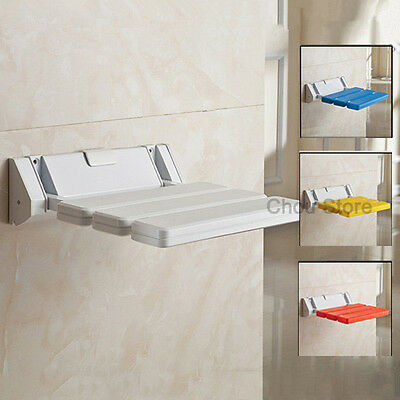 Bathroom Folding Shower Seat Wall Mount Disabled Elder Children Safe Bath Chair