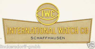 IWC 1950er JAHRE - OFFICIAL AGENT SCHILD / SIGN - SHOP DISPLAY FÜR KONZESSIONÄRE