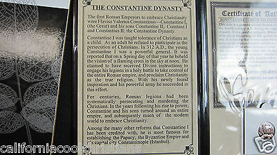 'THE CONSTANTINE DYNASTY' Ancient 1st Christian Emperors in large Album with COA
