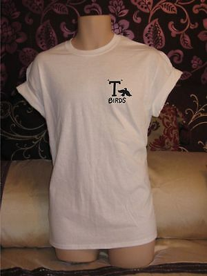 T BIRDS CHEST 1950's THEME FANCY DRESS GREASE IS THE WORD MENS WOMENS T SHIRT