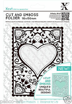Xcut A6 Cut and Emboss combination die cutting & embossing folder HEART FRAME