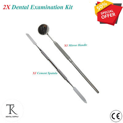 Dental Mouth Examination Kit  Mouth Mirror with Handle & Cement Spatula Save £10