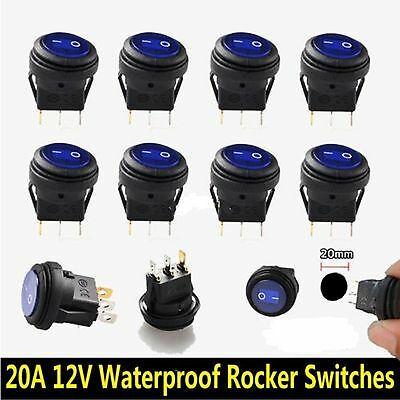 20A LED red light dash switch Premium Marine // Boat high amp switches x2