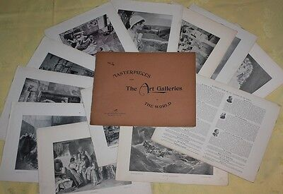 Masterpieces From The Art Galleries Of The World -190 prints -New York 1896-Rare