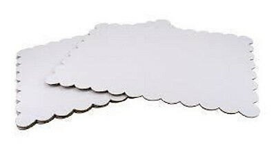 """White Cardboard Cake Rectangle Base 11"""" x 15.5"""" 4 Pack Disposable 4382 NEW"""